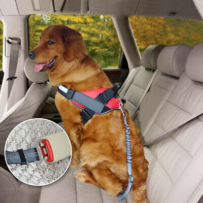 Anti Shock Cat Dog Pet Safety Seat belt Clip Car Vehicle Adjustable Harness Lead