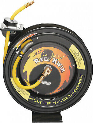 Heavy Duty 3 8 50-ft Air Hose & Reel Tool 300-PSI Fully Automatic Hose