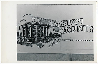 GASTONIA NORTH CAROLINA view of Gaston Co Court House real photo pc