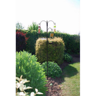 KINGFISHER BLACK METAL GARDEN WILD BIRD CARE TRADITIONAL FEEDING STATION uk