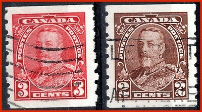 Canada Used Stamps King George V Pictorial Coils (1935) - #229,230 (143)