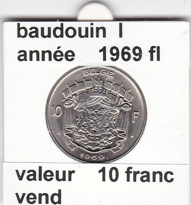 FB 2 )pieces de baudouin  10 francs 1969  belgie