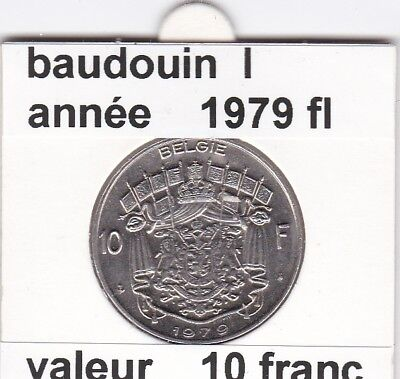 FB 2 )pieces de baudouin  10 francs 1979  belgie