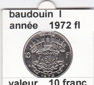 FB 2 )pieces de baudouin  10 francs 1972  belgie