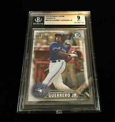2016 Bowman Chrome Vladimir Guerrero Jr. RC Mint BGS 9
