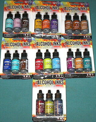 LOT of 21 - TIM HOLTZ Ranger Adirondack ALCOHOL INKS - New! NO DUPLICATES!