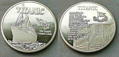 Titanic Silver Stairs Coin Atlantic Ocean Worlds Largest Ocean Liner Ship Boat
