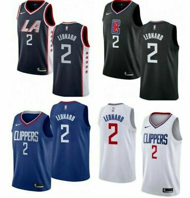 Kawhi Leonard 2 Men's Los Angeles Clippers Basketball Jersey Embroidered SUPER