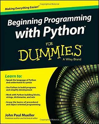 Beginning Programming with Python For Dummies, Mueller, John Paul, Good Conditio