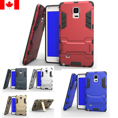 For Samsung Galaxy Note 4 ShockProof Hard Case Rugged Hybrid Armor Cover Stand