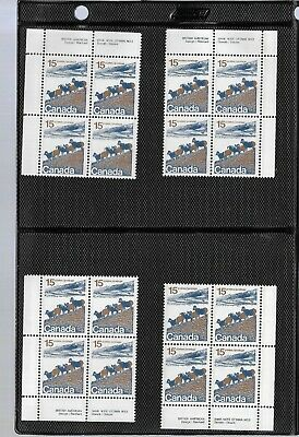 pk44854:Stamps-Canada #595a Mountain Sheep 15 ct Plate 2 Block Set-MNH