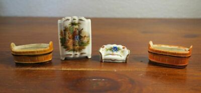 Dollhouse Miniature Furniture Limoges Godey Romantic and Germany Bisque Porcelai