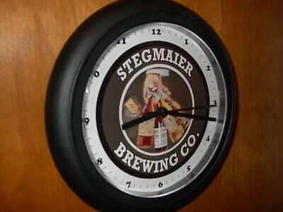 Stegmaier Brewing Co. Beer Bar Man Cave Advertising Black Wall Clock Sign