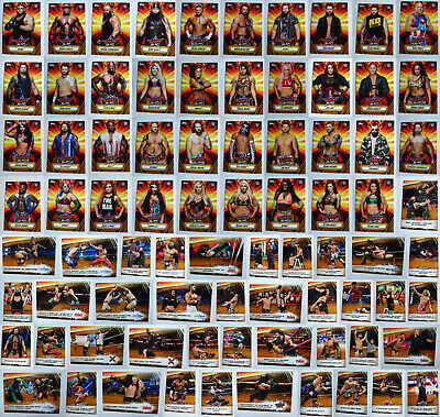 2019 Topps WWE SummerSlam Gold Wrestling Cards Complete Your Set You Pick 1-100