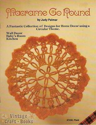 Macrame Go Round Judy Palmer Pattern Book Vintage Circle Wall Decor Baby NEW