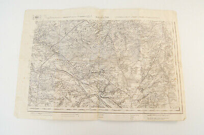 Vintage Map of North Eastern France - Language in German Orleans 95 D Gien109B