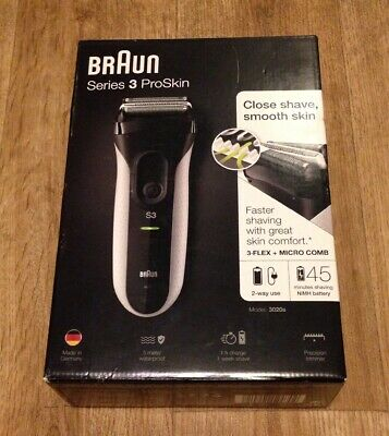 Braun Series 3 Proskin 3020s Wet & Dry Shaver Brand New Sealed Cost £99.99