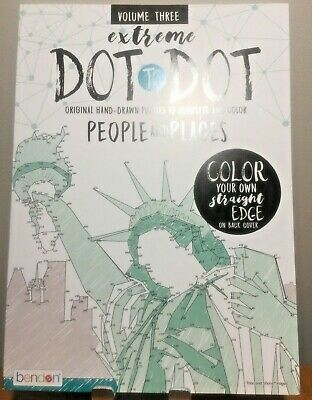 Brand New Adult Puzzle Extreme Dot to Dot Volume Three People and Places BENDON
