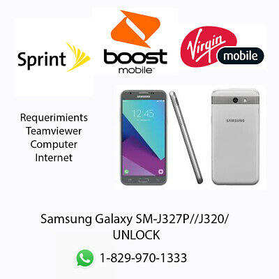 UNLOCK SERVICE SAMSUNG J3 Emerge J327P Sprint Boost Virgin Bit 1, 2