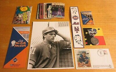 New York Mets Lot of Collectible Items MLB Baseball Schedule, Cards, Coin+++