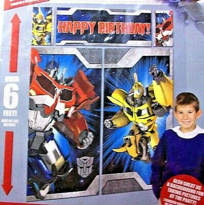 TRANSFORMERS WALL POSTER DECORATING KIT 5pc ~ Birthday Party Supplies Hasbro