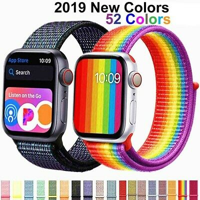 Nylon Sport Loop iWatch Band Strap For Apple Watch Series 4321 44/42/40/38mm