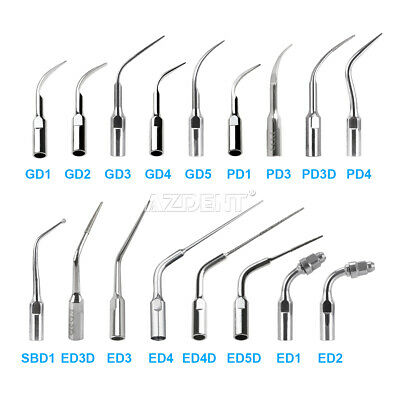 17 Types Dental Ultrasonic Scaler Scaling Endo Perio Tips Fit SATELEC DTE NSK