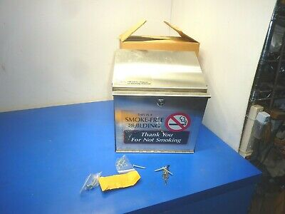 Emedco AHL3-4 Stainless Steel Cigarette Disposal Station,Wall Mounted,NEW
