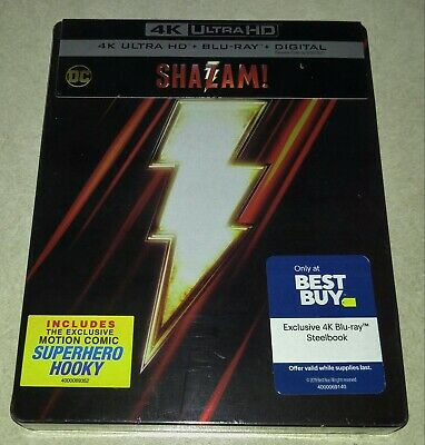 New Shazam 4K Ultra HD + Blu-ray/Digital Steelbook™ Bestbuy Exclusive USA