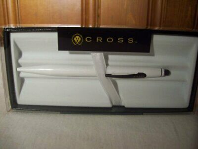 Cross Tech 2 Pearl White Ballpoint Pen with 6mm Precision Stylus…..New