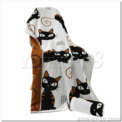 Soft Absorbent Cotton Three-layer Bath Towels Big-eyed cat brown
