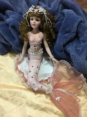 Mermaid Porcelain Doll Homeart Ex Condition Rare, Tags