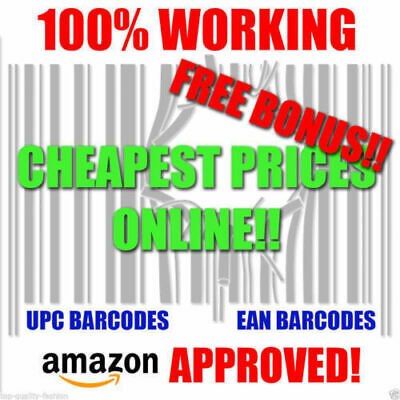 1000 UPC EAN Numbers Barcodes Bar Code GS1 for e Commerce US UK EU CA  TR7