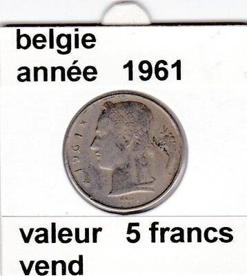 FB )pieces de baudouin  5 francs 1961  belgie