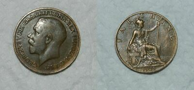 Great Britain :  George V  Farthing 1921