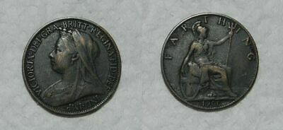 Great Britain :  Queen Victoria  Farthing 1900