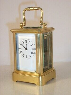 Antique Miniature Carriage Clock By Margaine C 1885. Cleaned/Serviced July 2019