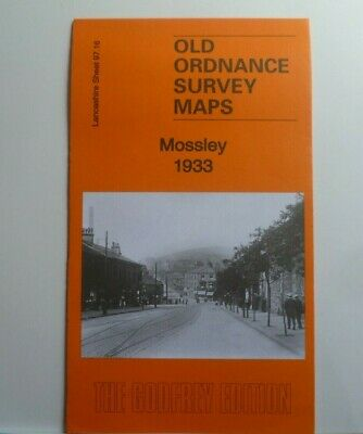 Old Ordnance Survey Detailed Maps Mossley  Lancashire 1933 Godfrey Edition New