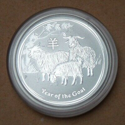 2015 Australia 50 Cents Coin 999 Silver Lunar Coin Collection Year Of The Goat