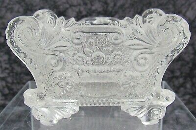 Antique Boston & Sandwich Lacy Pressed Glass Salt Neale BF 1b