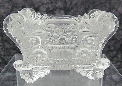 Antique Boston & Sandwich Lacy Pressed Glass Salt Neale BF 1f