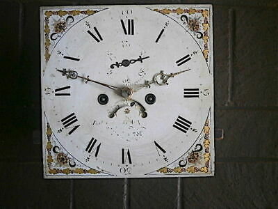 C1820  8 day LONGCASE GRANDFATHER CLOCK DIAL+movement 12X 12