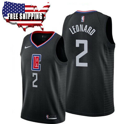 Kawhi Leonard 2 Men's Los Angeles Clippers Basketball Jersey Embroidered