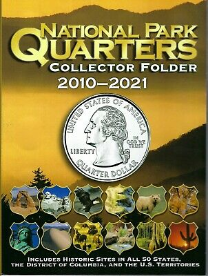 Whitman National Park Quarters Collector Folder 2010-2021 for all 60 Types!