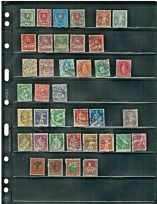 Antique Stamps 1800s & Early 1900s SWITZERLAND Stamp Collection of 38