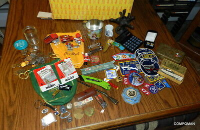 Junk Drawer Lot Toys Collectibles Canadian Coins Dice Old Tin 1914 SPAM Earrings