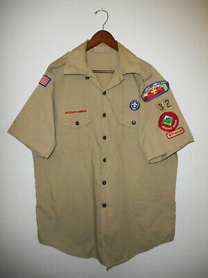 BOY SCOUTS Of America UNIFORM Shirt BSA #32 Scout USA Adult Mens : X-LARGE XL