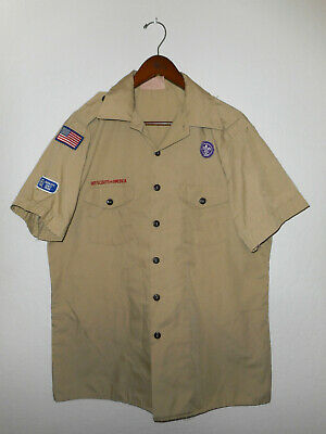 BOY SCOUTS Of America UNIFORM Shirt BSA Scout USA Adult Mens : LARGE Lg