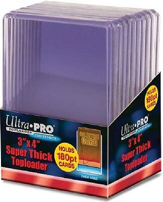 10 Ultra Pro 180pt 3x4 Super Thick Toploaders  toploader New top loaders Patch