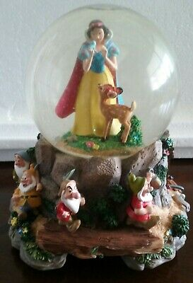 Disney Snow White Seven Dwarfs SNOW GLOBE - THE MINE - MUSICAL